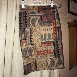 LuLaRoe figures pencil skirt. EUC. size XS